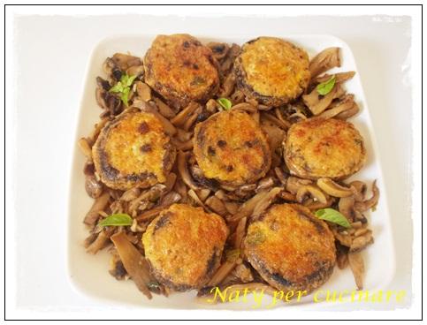 Funghi champignon ripieni e trifolati