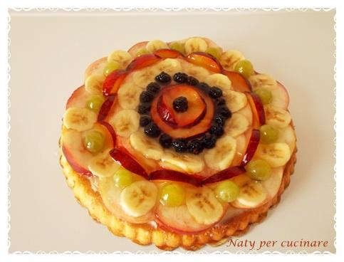 Crostata morbida crema pasticcera leggera frutta