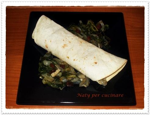Piadina con scarola e pancetta